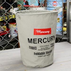 マーキュリー キャンバスバケツ バスケット ゴミ箱 小物入れ 収納 アメリカ アメリカン雑貨 サイズM グレー_MC-MECABUMG-MCR|planfirst