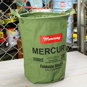 マーキュリー キャンバスバケツ バスケット ゴミ箱 小物入れ 収納 アメリカ アメリカン雑貨 サイズM カーキ_MC-MECABUMK-MCR|planfirst