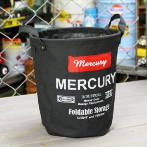 マーキュリー キャンバスバケツ バスケット ゴミ箱 小物入れ 収納 植物 アメリカ アメリカン雑貨 サイズS ブラック_MC-MECABUSB-MCR|planfirst