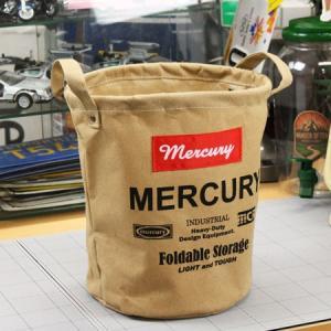 マーキュリー キャンバスバケツ バスケット ゴミ箱 小物入れ 収納 植物 アメリカ アメリカン雑貨 サイズS サンドベージュ|planfirst