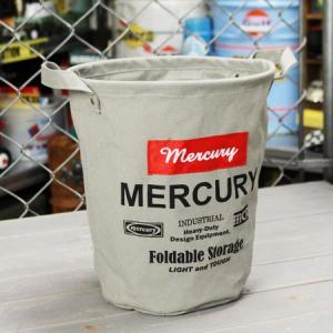 マーキュリー キャンバスバケツ バスケット ゴミ箱 小物入れ 収納 植物 アメリカ アメリカン雑貨 サイズS グレー_MC-MECABUSG-MCR|planfirst