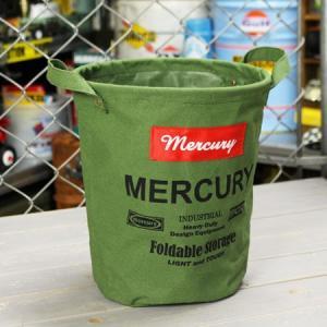 マーキュリー キャンバスバケツ バスケット ゴミ箱 小物入れ 収納 植物 アメリカ アメリカン雑貨 サイズS カーキ_MC-MECABUSK-MCR|planfirst