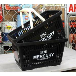 マーキュリー バスケット 収納 かご ポリプロピレン おしゃれ マーケットバスケット アメリカ アメリカン雑貨 MERCURY ブラック 2個セット_MC-MEMABABK2P-MCR|planfirst