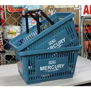 マーキュリー バスケット 収納 かご ポリプロピレン おしゃれ マーケットバスケット アメリカ アメリカン雑貨 MERCURY ブルー 2個セット_MC-MEMABABL2P-MCR|planfirst