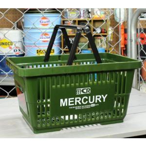 マーキュリー バスケット 収納 かご ポリプロピレン おしゃれ マーケットバスケット 買い物かご アメリカ アメリカン雑貨 MERCURY カーキ_MC-MEMABAKH-MCR|planfirst