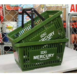マーキュリー バスケット 収納 かご ポリプロピレン おしゃれ マーケットバスケット アメリカ アメリカン雑貨 MERCURY カーキ 2個セット_MC-MEMABAKH2P-MCR|planfirst