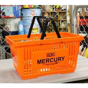 マーキュリー バスケット 収納 かご ポリプロピレン おしゃれ マーケットバスケット 買い物かご 洗濯物 洗車 小物入れ MERCURY オレンジ_MC-MEMABAOR-MCR|planfirst