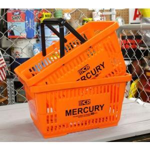 マーキュリー バスケット 収納 かご ポリプロピレン おしゃれ マーケットバスケット 洗濯物 洗車 小物入れ MERCURY オレンジ 2個セット_MC-MEMABAOR2P-MCR|planfirst