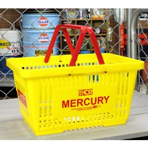 マーキュリー バスケット 収納 かご ポリプロピレン おしゃれ マーケットバスケット 買い物かご アメリカ アメリカン雑貨 MERCURY イエロー_MC-MEMABAYE-MCR|planfirst