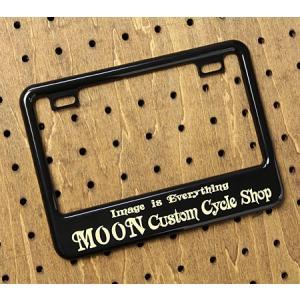 ナンバーフレーム ナンバープレート フレーム バイク用(原付50-125cc) ムーンアイズ MOONEYES ブラック Custom Cycle Shop メール便OK_NF-MG130GCBKMCS-MON|planfirst