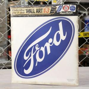 フォード ウォールステッカー 車 モーター アメリカ 壁貼り アメ車 マスタング ガレージ アメリカン雑貨 FORD 3枚セット_SC-009-HYS|planfirst