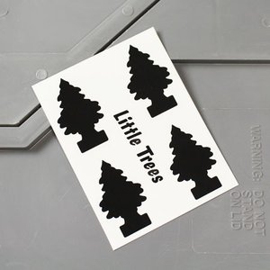 リトルツリー ステッカー アメリカン 車 バイク かっこいい カーステッカー Little Trees サイズS ブラック メール便OK_SC-006BK-HYS|planfirst