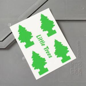 リトルツリー ステッカー アメリカン 車 バイク かっこいい カーステッカー Little Trees サイズS グリーン メール便OK_SC-006GR-HYS|planfirst