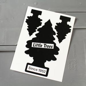 リトルツリー ステッカー アメリカン 車 バイク かっこいい カーステッカー Little Trees サイズM ブラック メール便OK_SC-007BK-HYS|planfirst