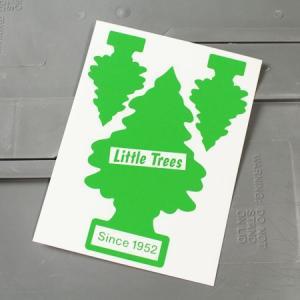 リトルツリー ステッカー アメリカン 車 バイク かっこいい カーステッカー Little Trees サイズM グリーン メール便OK_SC-007GR-HYS|planfirst