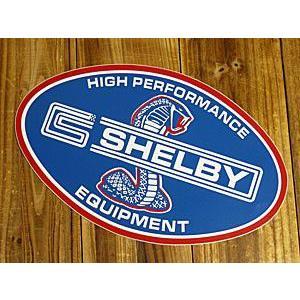 ステッカー 車 シェルビー アメリカン おしゃれ バイク ヘルメット かっこいい 復刻 コブラ SHELBY HIGH PERFORMANCE EQUIPMENT メール便OK_SC-DZ110-MON|planfirst