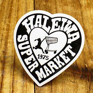 ステッカー ハワイアン 車 アメリカン おしゃれ バイク ヘルメット かっこいい ハレイワスーパーマーケット ハート メール便OK_SC-HSM002-SXW|planfirst