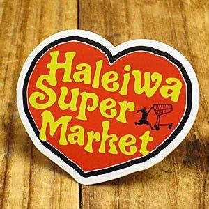 ステッカー ハワイアン 車 アメリカン おしゃれ バイク ヘルメット かっこいい ハレイワスーパーマーケット ハート メール便OK_SC-HSM011-SXW|planfirst