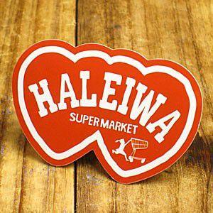 ステッカー ハワイアン 車 アメリカン おしゃれ バイク ヘルメット かっこいい ハレイワスーパーマーケット HALEIWA メール便OK_SC-HSM014-SXW|planfirst