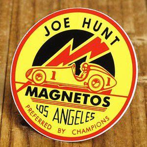 ステッカー 車 アメリカン おしゃれ バイク ヘルメット かっこいい 復刻 JOE HUNT MAGNETOS メール便OK_SC-DZ317-MON|planfirst