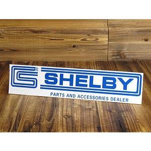 ステッカー 車 シェルビー アメリカン おしゃれ かっこいい アメ車 カーステッカー 復刻 SHELBY ロングスクエア サイズL_SC-DZ191-MON|planfirst