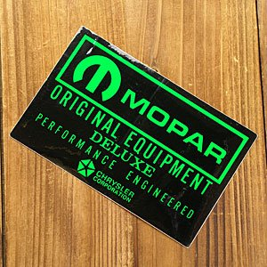 ステッカー 車 モパー アメリカン おしゃれ バイク ヘルメット かっこいい 復刻 クライスラー MOPAR ブラック メール便OK_SC-DZ276-MON|planfirst