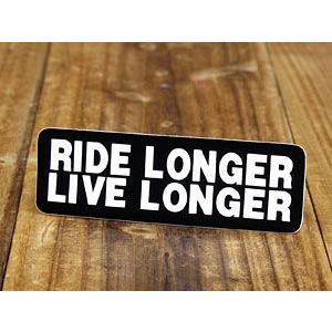 ステッカー ヘルメット 車 アメリカン おしゃれ バイク かっこいい RIDE LONGER LIV...