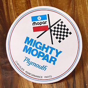 ステッカー 車 モパー アメリカン おしゃれ バイク ヘルメット かっこいい 復刻 クライスラー MIGHTY MOPAR メール便OK_SC-DD139-MON|planfirst