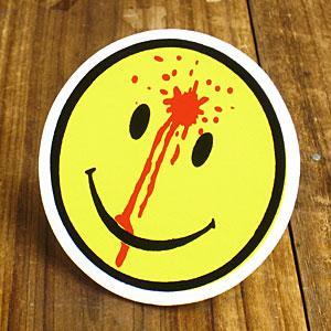 ステッカー 車 アメリカン おしゃれ バイク ヘルメット かっこいい スマイル BLOOD SMILE メール便OK_SC-014-GEN|planfirst