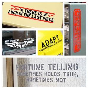 アメリカンミリタリーステンシル転写ステッカー 「笑う門には福来たる」 メール便OK_SC-PST014-SXW|planfirst|04