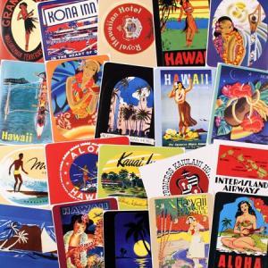 ステッカー セット スーツケース 旅行カバン トラベルステッカー 20枚セット ホテル ハワイ アメリカ ラゲージラベル ALOHA HAWAII メール便OK_SC-838162-HYS|planfirst