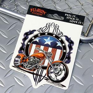 ステッカー 車 アメリカン おしゃれ バイク かっこいい チョッパー ピンストライプ YUJEAN メール便OK_SC-AD555-HYS|planfirst