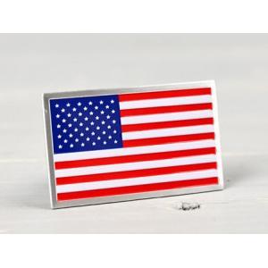 ステッカー 車 国旗 アメリカン おしゃれ バイク かっこいい スーツケース エンブレム アメリカンフラッグ アルミプレート サイズS メール便OK_SC-AE12-TMS|planfirst