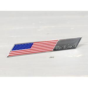 ステッカー 車 国旗 アメリカン おしゃれ バイク かっこいい スーツケース エンブレム アメリカンフラッグ アルミプレート スラッシュ メール便OK_SC-AE18-TMS|planfirst