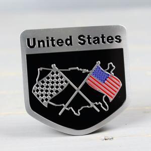 ステッカー 車 国旗 アメリカン おしゃれ バイク かっこいい スーツケース エンブレム アメリカンフラッグ アルミプレート チェッカー メール便OK_SC-AE6-TMS|planfirst