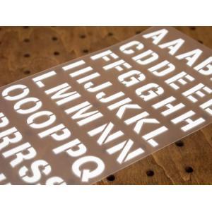 アルファベットステンシル転写ステッカー63Pセット ホワイト メール便OK_SC-AP249-TMS|planfirst|02