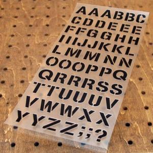 アルファベットステンシル転写ステッカー63Pセット ブラック メール便OK_SC-AP250-TMS|planfirst