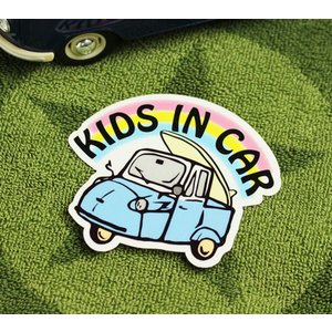 KIDS IN CAR ステッカー 車 子供 アメリカン 子供乗ってます おしゃれ かっこいい オート三輪 サイズS メール便OK_SC-BIS10-LFS|planfirst