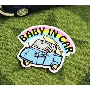 BABY IN CAR ステッカー 車 赤ちゃん アメリカン 赤ちゃん乗ってます おしゃれ かっこいい オート三輪 サイズS メール便OK_SC-BIS9-LFS|planfirst