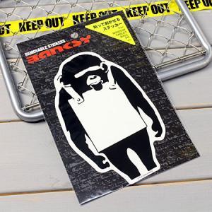 バンクシー ステッカー ウォールステッカー 車 猿 おしゃれ バイク かっこいい BANKSY Monkey Sign メール便OK_SC-BKW003-ACT|planfirst
