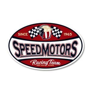 ステッカー アメリカン おしゃれ 車 バイク かっこいい ホットロッド カスタム レーシング カーステッカー CALIFORNIA RACING BADGES SPEED MOTORS|planfirst