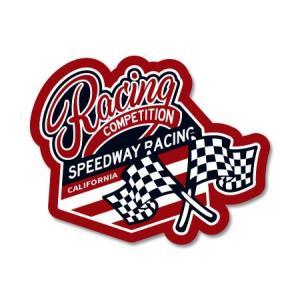 ステッカー アメリカン おしゃれ 車 バイク かっこいい ホットロッド カスタム レーシング カーステッカー CALIFORNIA RACING BADGES RACING COMPETITION|planfirst