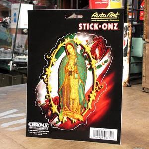 ステッカー 車 アメリカン おしゃれ バイク かっこいい 聖母マリア グアダルーペ STICK ONZ メール便OK_SC-DA8771-MON|planfirst