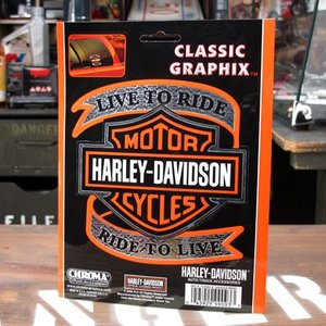 (価格変更2015/04/01) ハーレーダビッドソンのステッカーです。 アメリカンバイクの代名詞、...
