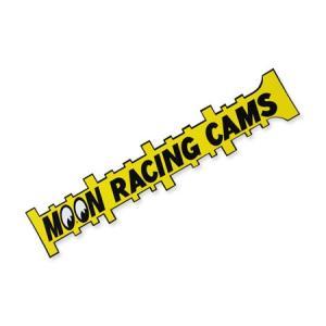 ムーンアイズ ステッカー アメリカン 車 ガレージ おしゃれ かっこいい カーステッカー アメ車 ホットロッド MOONEYES MOON RACING CAMS サイズL planfirst