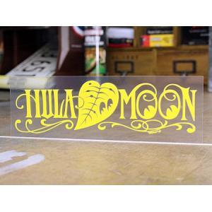 ムーンアイズ ステッカー 車 アメリカン おしゃれ バイク ヘルメット かっこいい ハワイ MOONEYES 転写タイプ HULA MOON イエロー メール便OK_SC-DM205YE-MON|planfirst