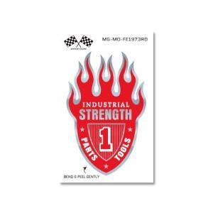 ステッカー フレイム ファイヤー ファイア 炎 火 アメリカン おしゃれ 車 バイク かっこいい ホットロッド ミラー 反射 FLAME EMBLEM STRENGTH|planfirst