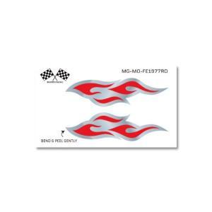 ステッカー フレイム ファイヤー ファイア 炎 火 アメリカン おしゃれ 車 バイク ミラー 反射 FLAME EMBLEM フレイムパターン 2Pセット サイズS A|planfirst