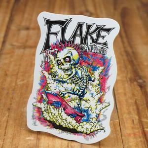 ステッカー スケートボード 車 アメリカン スカル スノーボード バイク ヘルメット かっこいい フレイク FLAKE Explosive Fracture メール便OK_SC-FLS001-ACT|planfirst