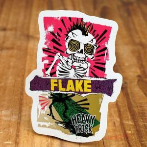 ステッカー スケートボード 車 アメリカン スカル スノーボード おしゃれ バイク ヘルメット かっこいい フレイク FLAKE Heavy Trick メール便OK_SC-FLS004-ACT|planfirst